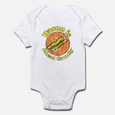 Vintage Bacon is Meat Candy Infant Bodysuit