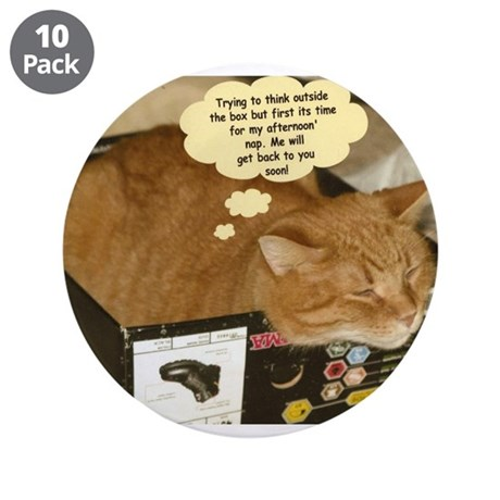 """Tabby Cats 3.5"""" Button (10 pack)"""