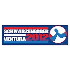 Schwarzenegger/Ventura 2012 Bumper Bumper Sticker