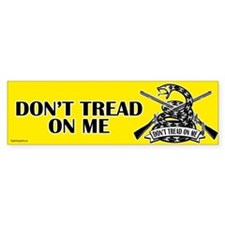 Don't Tread on Me - Rifles Bumper Sticker