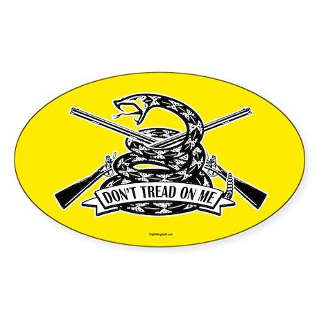 Don't Tread on Me - Rifles Sticker (Oval)