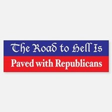 Road to Hell Bumper Bumper Bumper Sticker