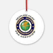 FAA Certified Seaplane Pilot Ornament (Round)