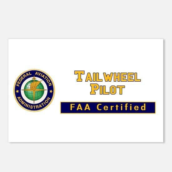 FAA Certified Tailwheel Pilot Postcards (Package o