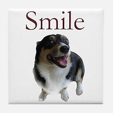 Smiling Dog Tile Coaster