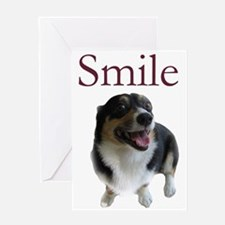 Smiling Dog Greeting Card