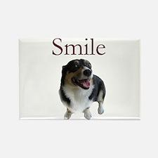 Smiling Dog Rectangle Magnet