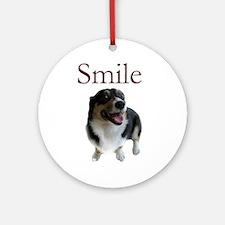 Smiling Dog Ornament (Round)