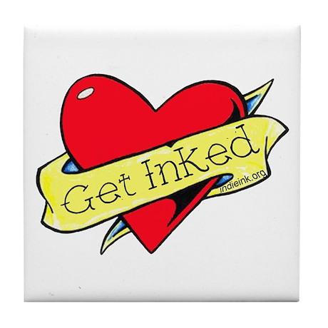Get Inked Tile Coaster
