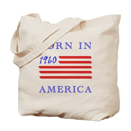 1960 Born In America Tote Bag