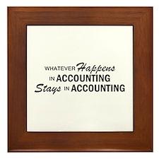 Whatever Happens - Accounting Framed Tile