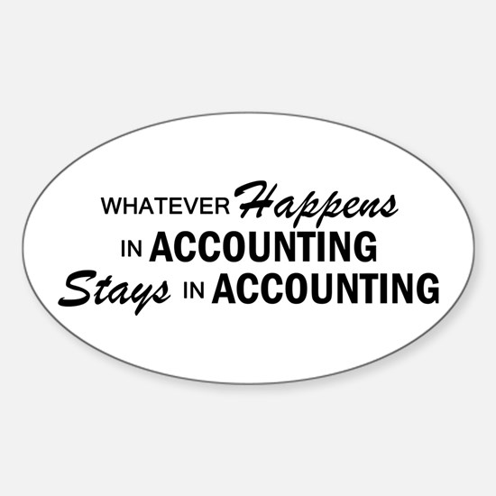 Whatever Happens - Accounting Sticker (Oval)