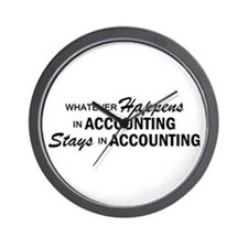 Whatever Happens - Accounting Wall Clock