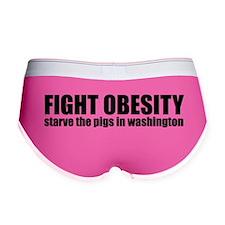 Fight Obesity, Starve the Pig Women's Boy Brief