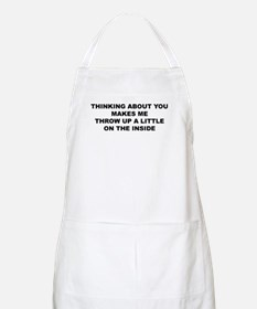 throwing up inside BBQ Apron