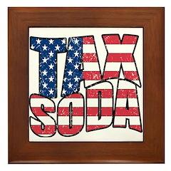 Tax Soda! Framed Tile