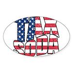 Tax Soda! Sticker (Oval)