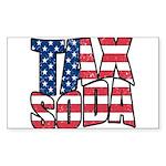Tax Soda! Sticker (Rectangle 10 pk)