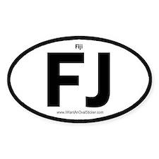 Fiji Oval Decal
