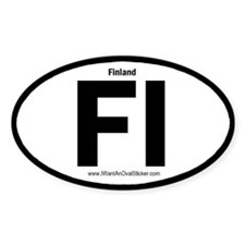 Finland Oval Decal