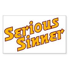 Serious Sinner Rectangle Decal