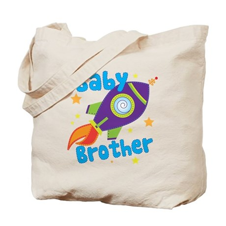 Baby Brother Rocket Tote Bag