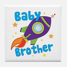 Baby Brother Rocket Tile Coaster