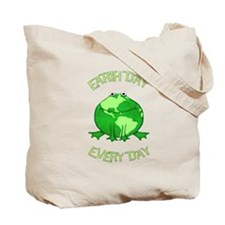 Earth Day Every Day Frog Tote Bag