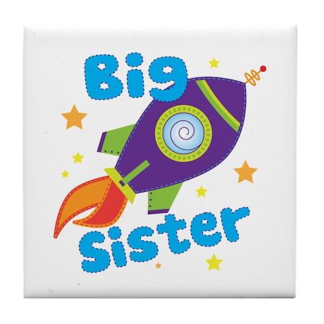 Big Sister Rocket Tile Coaster