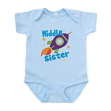 Middle Sister Rocket Infant Bodysuit