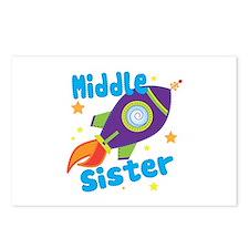 Middle Sister Rocket Postcards (Package of 8)