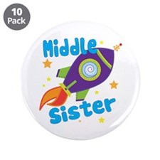 "Middle Sister Rocket 3.5"" Button (10 pack)"