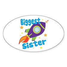 Biggest Sister Rocket Decal