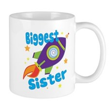 Biggest Sister Rocket Small Mugs