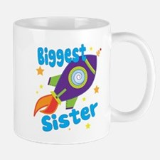 Biggest Sister Rocket Small Mugs
