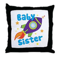 Baby Sister Rocket Throw Pillow