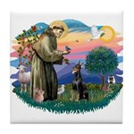 St Francis #2/ Dobie (cropped) Tile Coaster