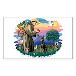 St Francis #2/ Dobie (cropped) Sticker (Rectangle)