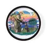 St Francis #2/ Dobie (cropped) Wall Clock