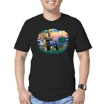 St Francis #2/ Dobie (cropped) Men's Fitted T-Shir