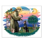 St Francis #2/ Dobie (cropped) Small Poster