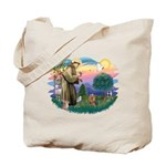 St Francis #2/ Yorkie #7 Tote Bag