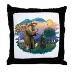 St Francis #2/ Bouvier Throw Pillow