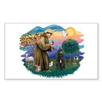 St Francis #2/ Bouvier Sticker (Rectangle 10 pk)