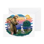 St Francis #2/ Dalmatian Greeting Cards (Pk of 10)