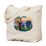 St Francis #2/ Dalmatian Tote Bag