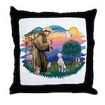 St Francis #2/ Dalmatian Throw Pillow