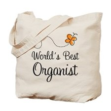 Worlds Best Organist Tote Bag
