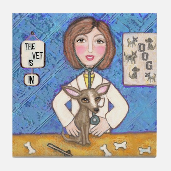 Vets With Pets 1 Tile Coaster