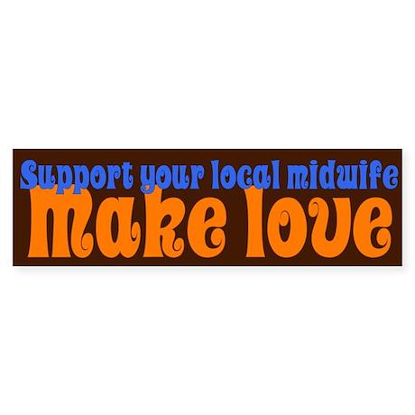 Make Love - Sticker (Bumper)